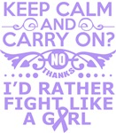 General Cancer Keep Calm Fight Like A Girl Tees