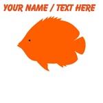 Custom Orange Tropical Fish