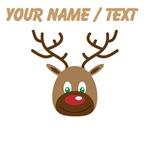 Custom Cute Red Nose Reindeer