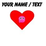 Custom Pink Owl Heart