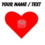 Custom Red Owl Heart