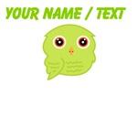 Custom Light Green Owl