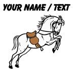 Custom White Stallion With Saddle