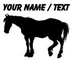 Custom Black Horse Silhouette