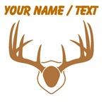 Custom Brown Deer Antlers Mount