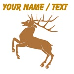 Custom Brown Stag Silhouette