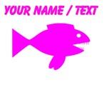 Custom Pink Cartoon Fish