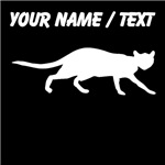 Custom House Cat Silhouette
