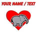 Custom Baby Elephant Heart