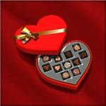 Heart-shaped box of chocolate - Opened