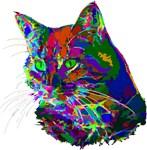 Pop Art Abstract Cat