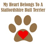 My Heart Belongs To A Staffordshire Bull Terrier