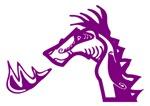 Purple Dragon Blowing Fire