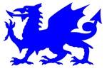 Blue Gargoyle Dragon