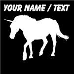 Custom Unicorn Silhouette