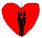 Unicorn Face Heart