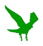 Green Landing Eagle Silhouette