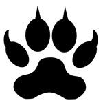 Black Wolf Paw Print