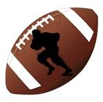 Football Running Back Silhouette