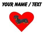 Custom Dachshund Heart
