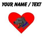Custom Bouvier des Flandres Heart