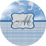 Custom Blue Plaid Monogram