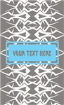 Custom Text Tribal Pattern