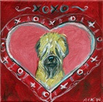 Soft Coated Wheaten Terrier Valentine Heart