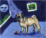 PUG sees moon Design