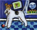 WIRE HAIRED FOX TERRIER art