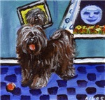 TIBETAN TERRIER Whimsical art