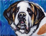 SAINT BERNARD whimsical art