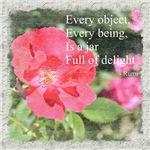 Rumi Quote Painted Rose