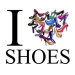 I Love Shoes Shopping Girl