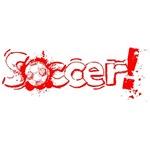 Soccerr Football Fans Bright Red