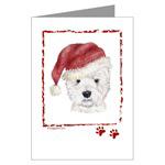 Christmas Westhighland White Terrier