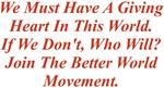 A Giving Heart Better World Movement Design