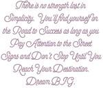 Simplify Your Journey Dream BIG Design