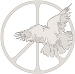 Peace Sign Dove ~ A white dove and the peace sign: enduring symbols of peace and love.
