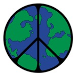 Global Peace Sign ~ What could represent Global Peace than a peace sign superimposed on a globe?