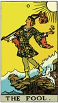 The Fool Tarot Card ~ The primary values for living a spiritual existence.