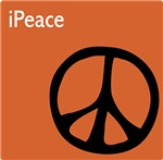 Orange iPeace Sign ~ Mixing iPods and Peace.