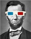 Abraham Lincoln Altered Art 3D Glasses Pop Art