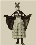 Victorian Woman in Bat Lady Halloween Costume