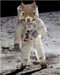 First Squirrel on the Moon Pop Art Kitsch Astronau
