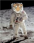 First Tiger on the Moon Pop Art Astronaut