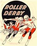 Roller Derby Advertisemnt Image Retro Derby Girl