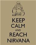 Buddha Keep Calm and Reach Nirvana Zen Buddhism
