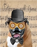 Victorian Steampunk Boxer Dog Collage