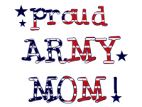 Patriotic Proud Army Mom